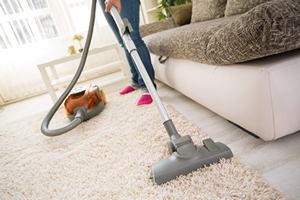 Carpet Cleaning with Vacuum